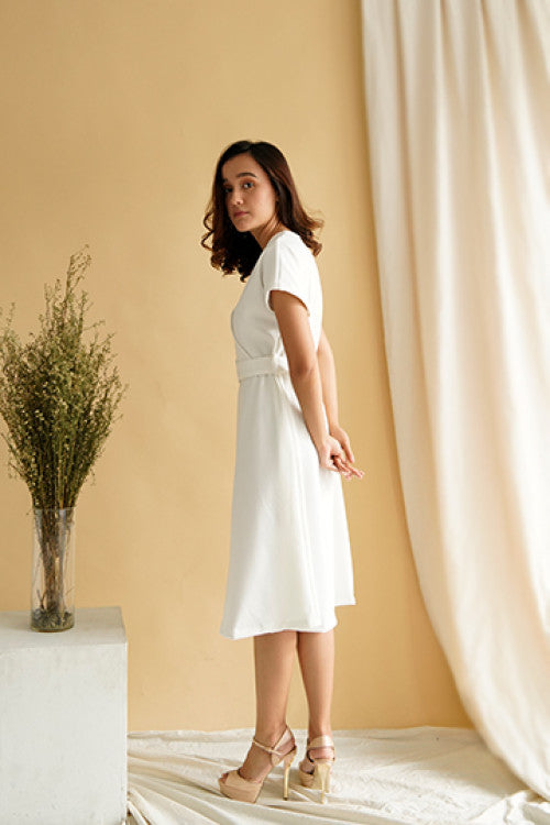 Haven Multiway Flare Dress in White