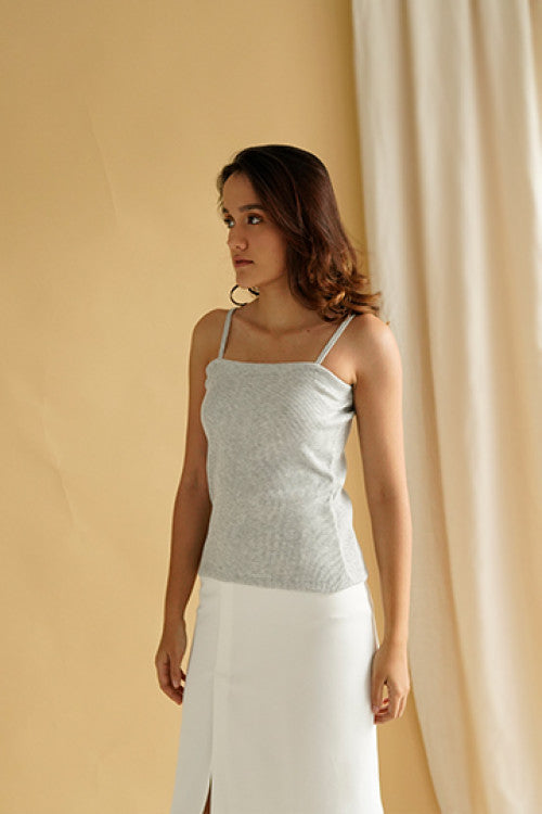 Rib Camisole in Grey