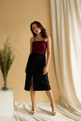 Rib Camisole in Maroon