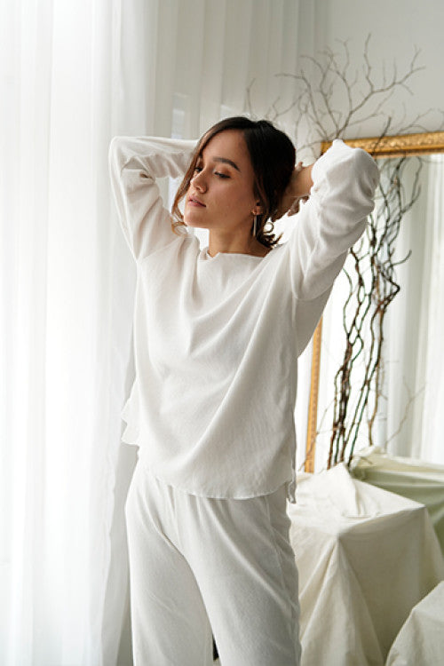 Pre-Order Rib Comfy Sweater in White