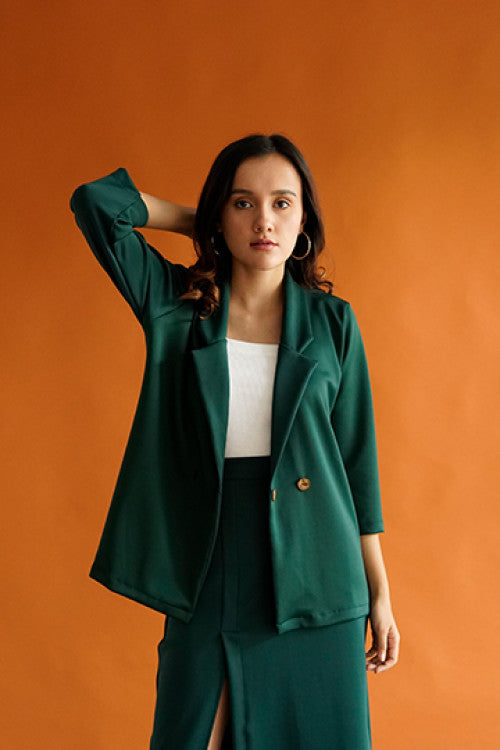 Esme Blazer Top in Green