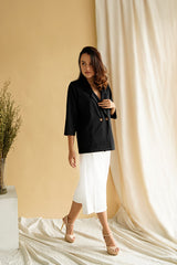 Esme Blazer Top in Black