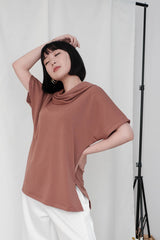 Rocha Set in Brick Brown Top & Skirt