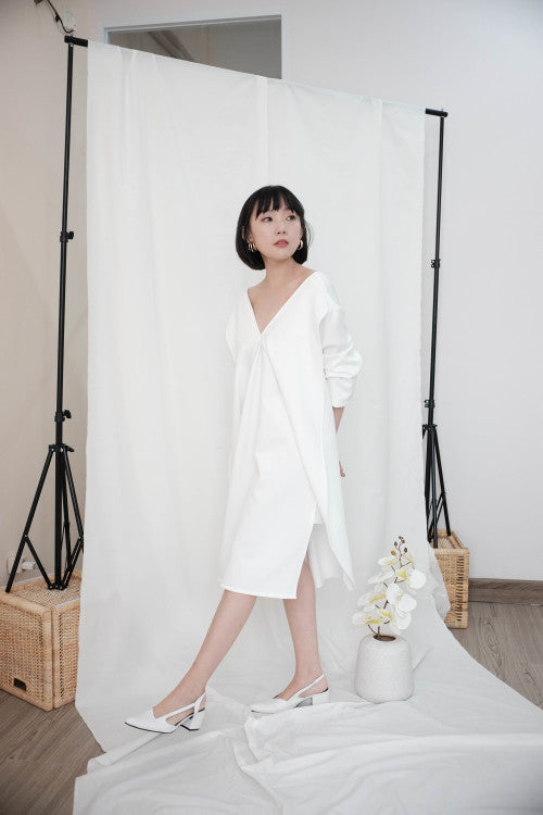 Pre Order Leah Multiway Dress in White