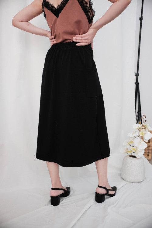 Rocha Midi Skirt in Black