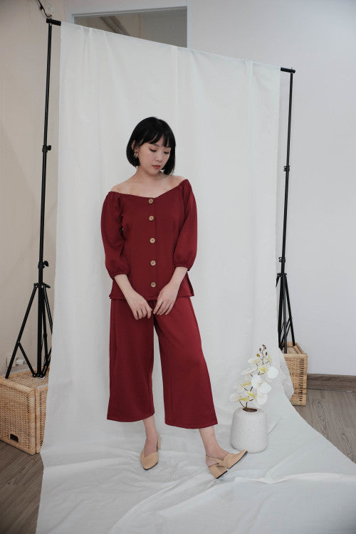Paloma Multiway Top in Maroon