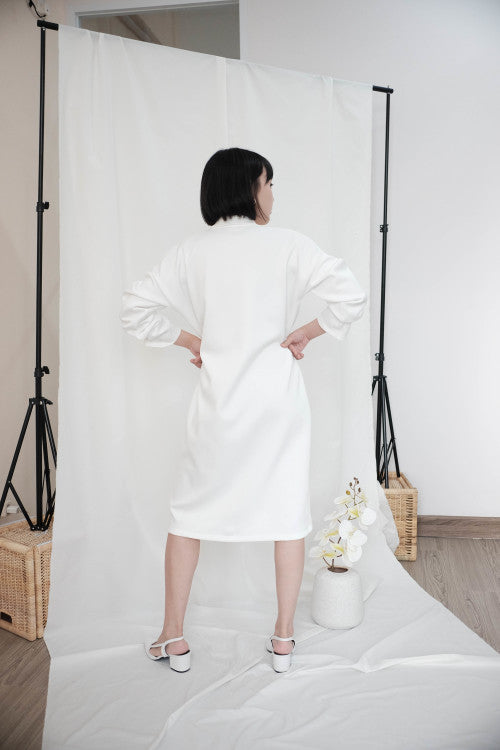 Simone Outer Dress in White