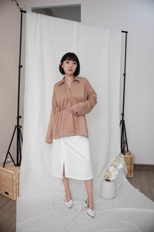 Lexi Shirt Top in Nude