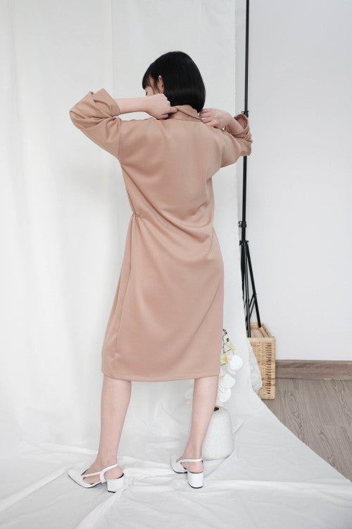 Simone Outer Dress in Nude