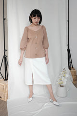 Paloma Multiway Top in Nude