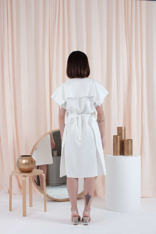Allium Dress in White