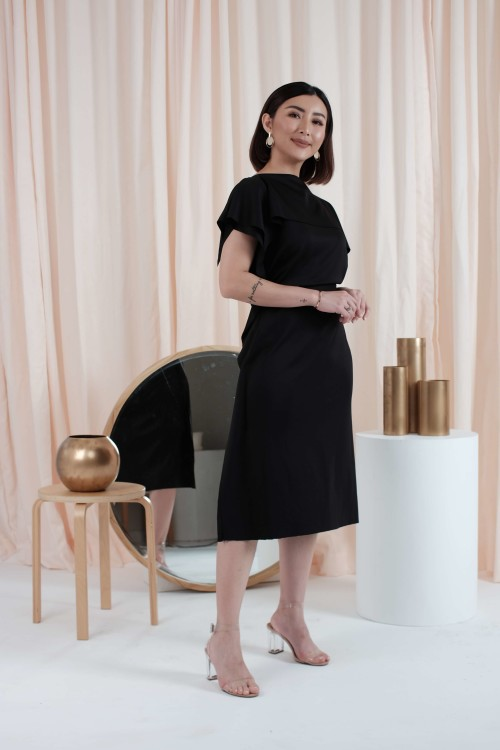 Allium Dress in Black