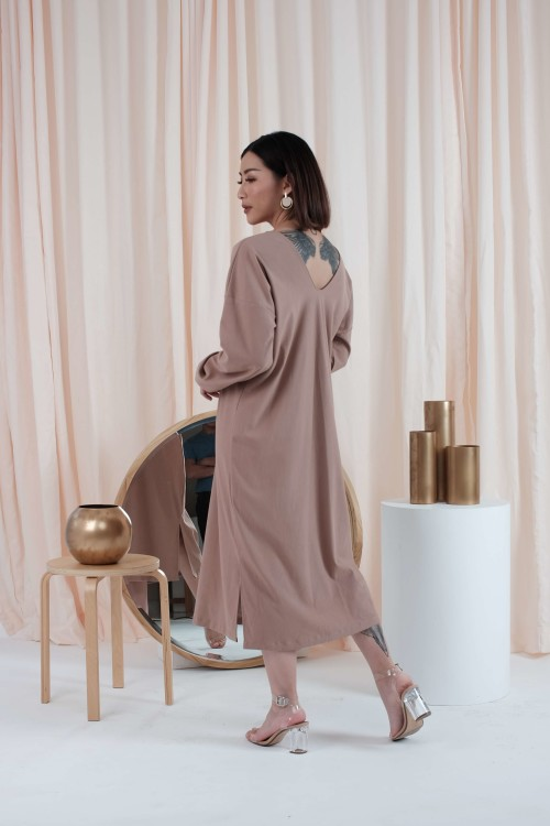 Jolene Loose Dress in Milo