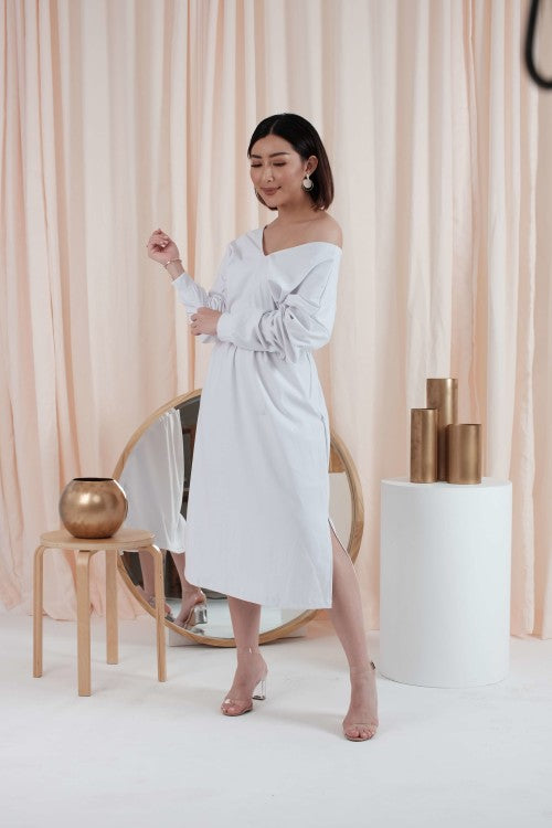 Jolene Loose Dress in White