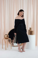 Jolene Loose Dress in Black