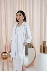 Marvey Oversized Coat in White