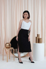 Midi Skirt in Black