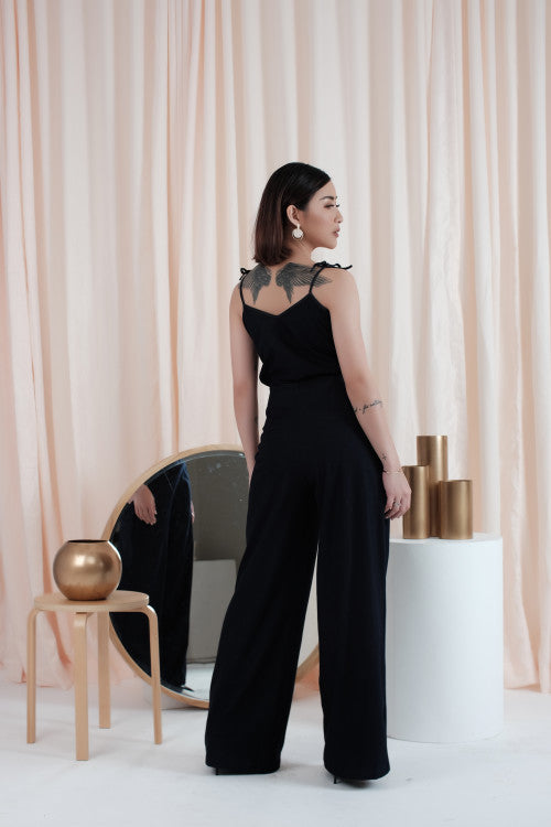 Lavin Wide Leg Pants in Black