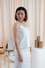 Ribbon Camisole in White
