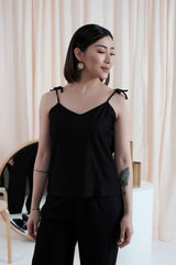 Ribbon Camisole in Black