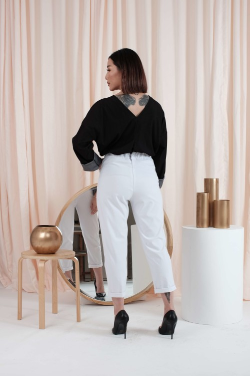 Boyfriend Pants in White- (READY!)
