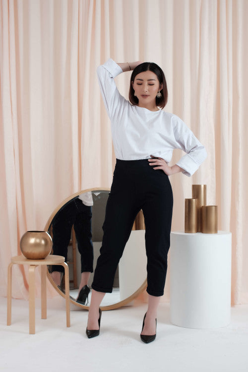 Boyfriend Pants in Black