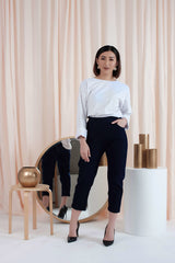 Boyfriend Pants in Navy