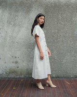 Villa Dress Outer in White (READY!)