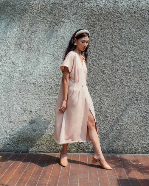 Cruz Outer Dress in Nude