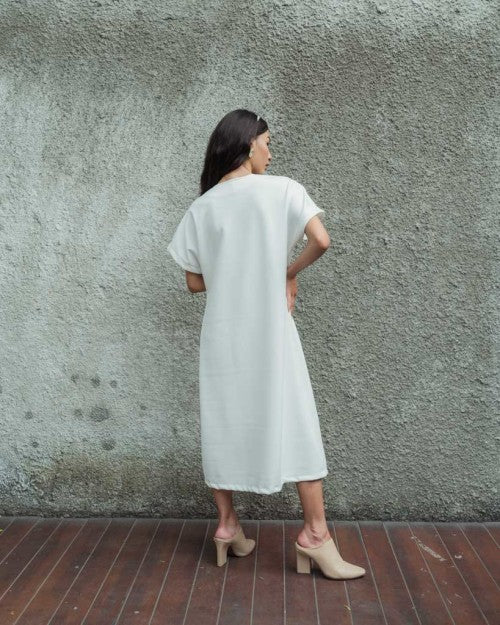 Cruz Outer Dress in White