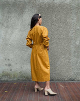 Barbara Wrap Dress in Mustard (READY!)