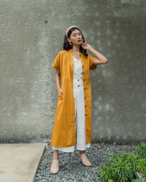 Villa Dress Outer in Mustard (3 PCS LEFT!)