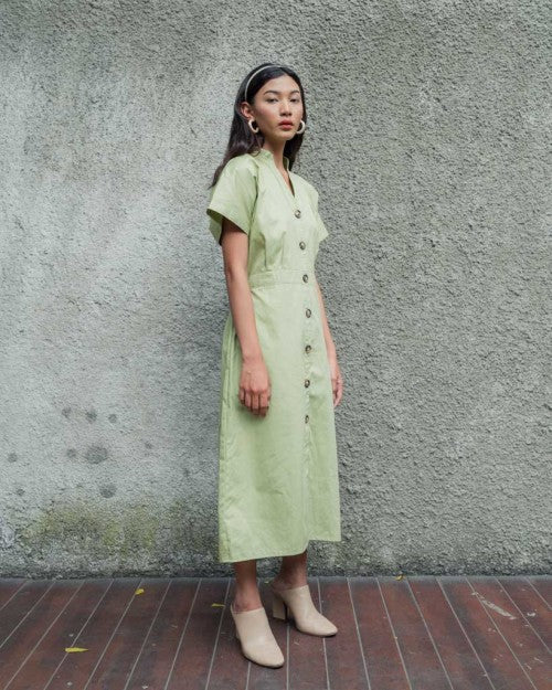 Villa Dress Outer in Fresh Green (READY!)