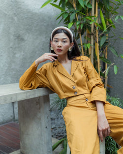 Marley Cropped Top in Mustard (READY1