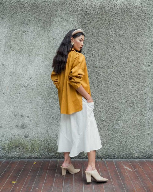 Basic Oversized Shirt in Mustard (READY!)