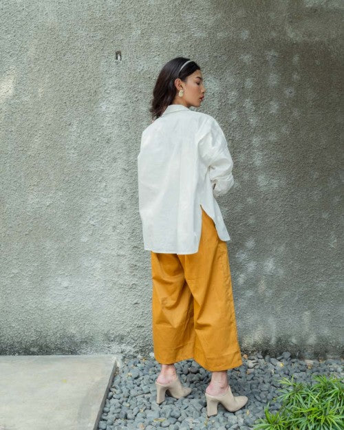 Basic Oversized Shirt in White (READY!)