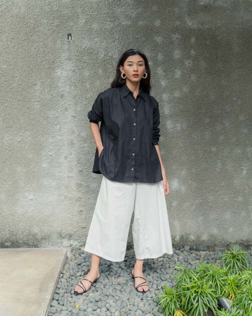 Basic Oversized Shirt in Black (READY!)