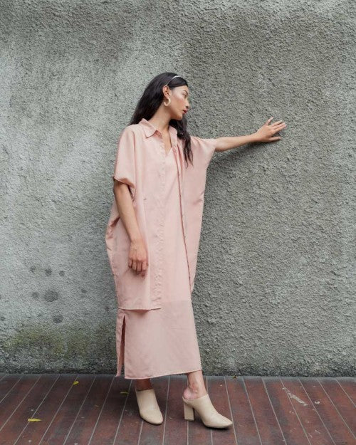 Sicily Multiway Shirt in Blush Nude (READY!)