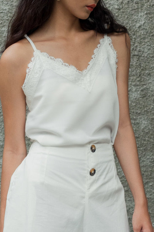 NEW Lace Camisole in White (READY!)