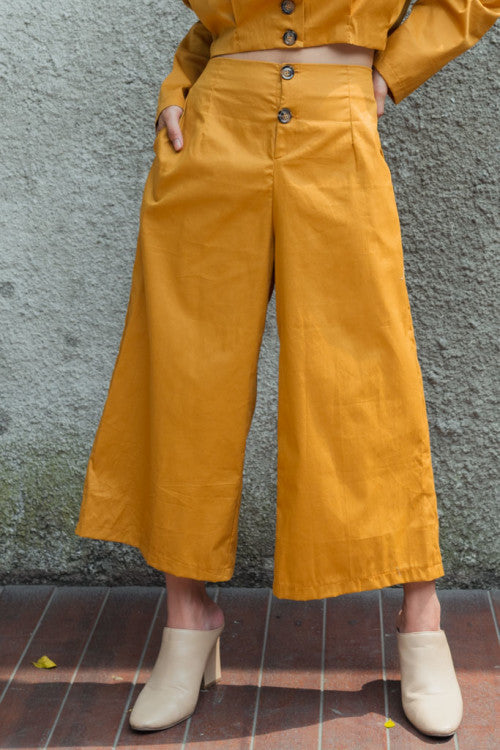 Button Cullote in Mustard (READY!)
