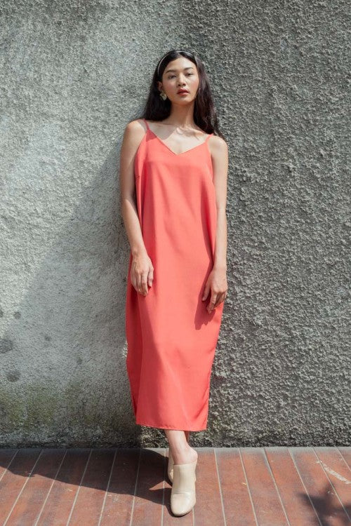 Basic Slip Dress in Terracotta (READY!)
