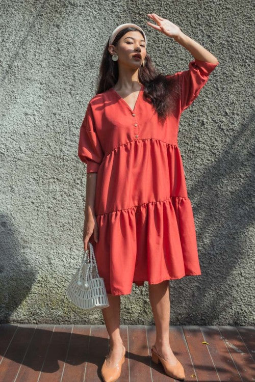 Capri Dress in Terracotta (PO 7 - 20 DAYS)
