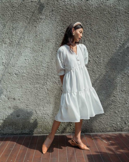 Capri Dress in White (PO 7 - 20 DAYS)