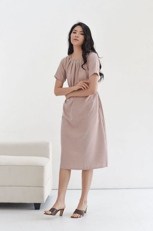 Nara Relax Dress in Dusty Pink