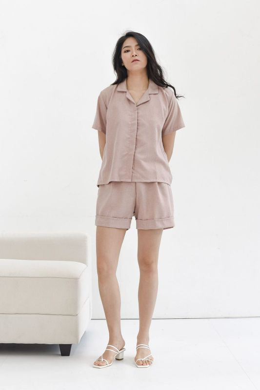Easy Day Shirt in Dusty Pink