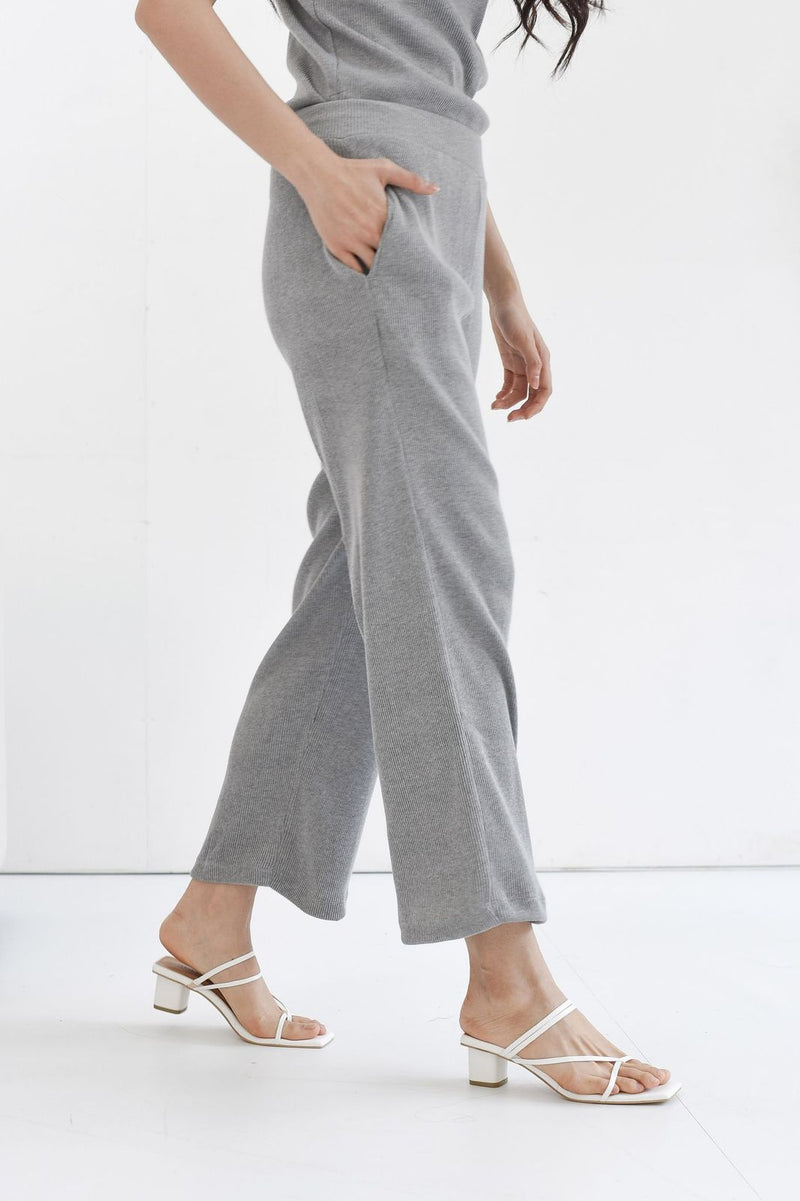 Home Rib Cullote Pants in Grey
