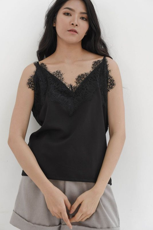 Lace Camisole in Black