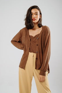 Cardigan Knit Multiway in Mocca (incl. inner)