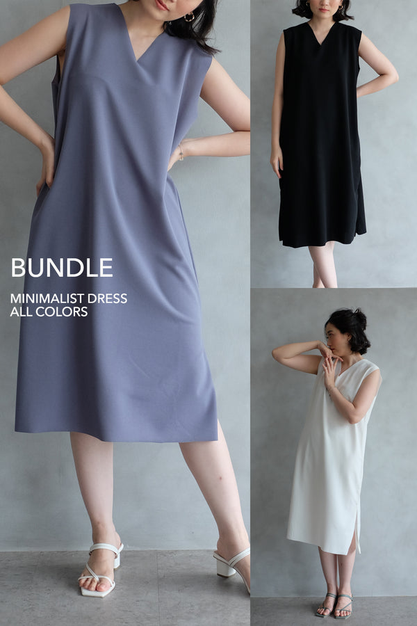 PO BUNDLE ALL COLORS: THE MINIMALIST DRESS (SHIP MAX MID JAN)