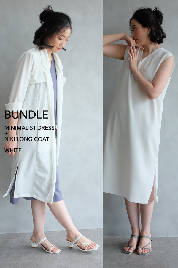 BUNDLE DRESS + OUTER: WHITE